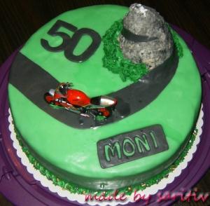 Motorradtorte 50