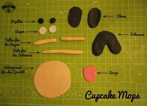 DIY cupcake Mops