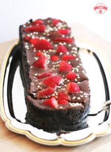 Erbeer-no-bake-cake