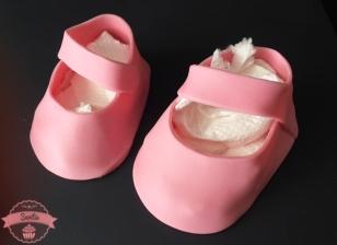 Geburttorte-Babyschuhe